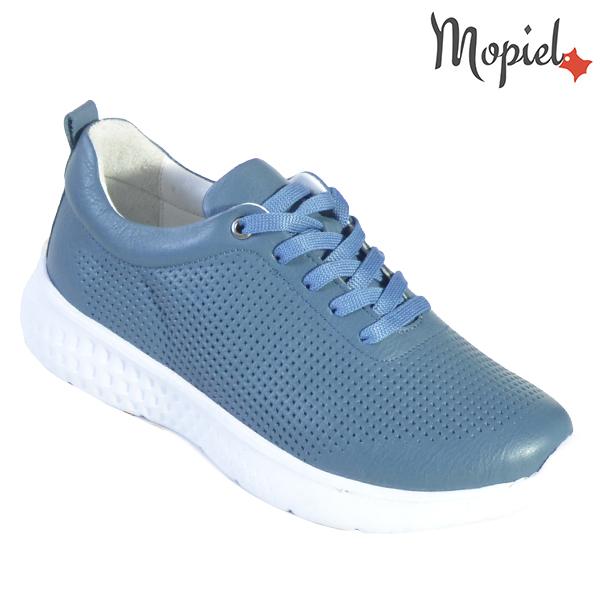 Pantofi dama, din piele naturala 202106 Blue Vanesa incaltaminte dama