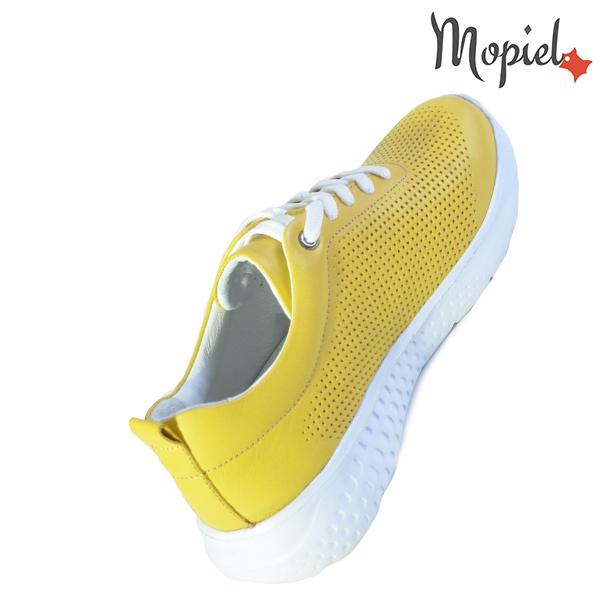 Pantofi dama, din piele naturala 202106 Galben Vanesa incaltaminte ieftina