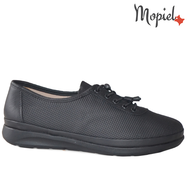 Pantofi dama, din piele naturala 231107 Negru Stela