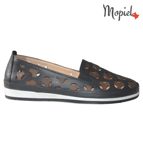 Pantofi dama, din piele naturala 231108 Negru Sidonia