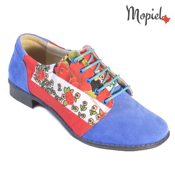 Pantofi dama din piele naturala 23420 Albastru Mina incaltaminte dama