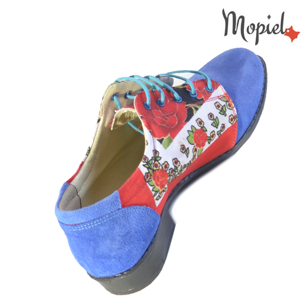 Pantofi dama din piele naturala 23420 Albastru Mina incaltaminte ieftina