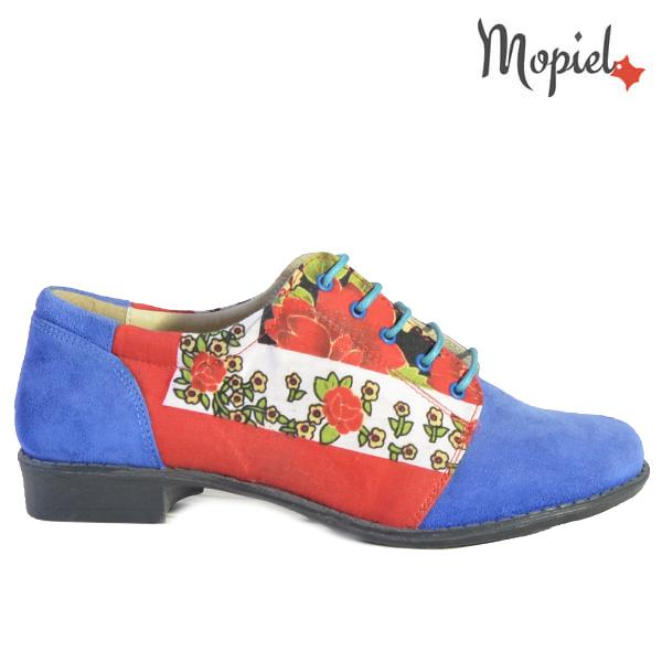 Pantofi dama din piele naturala 23420 Albastru Mina  - Pantofi dama din piele naturala 23420 Albastru Mina - REDUCERI FINALE DE VARA!