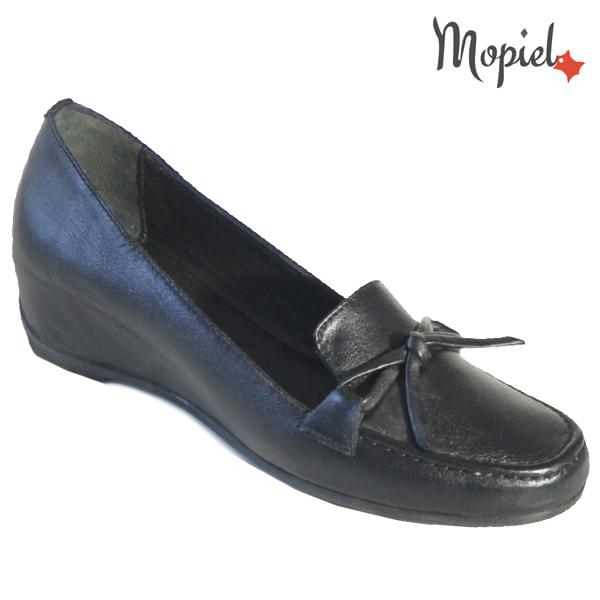 Pantofi dama din piele naturala 24205 Negru Cara incaltaminte dama