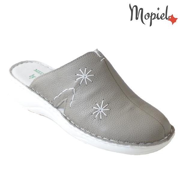Papuci medicinali din piele naturala 261701 Bej - Inchis Arabela incaltaminte dama