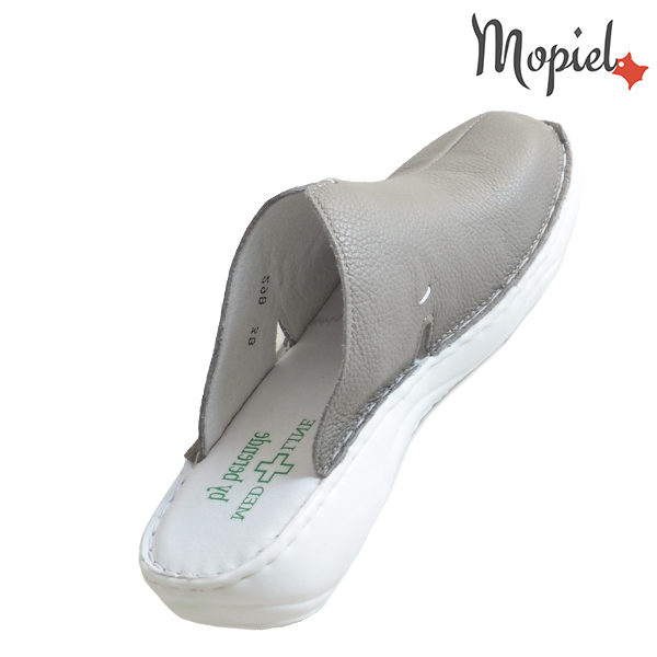 Papuci medicinali din piele naturala 261701 Bej - Inchis Arabela incaltaminte piele