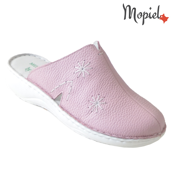 Papuci medicinali din piele naturala 261701 Roz Arabela incaltaminte dama