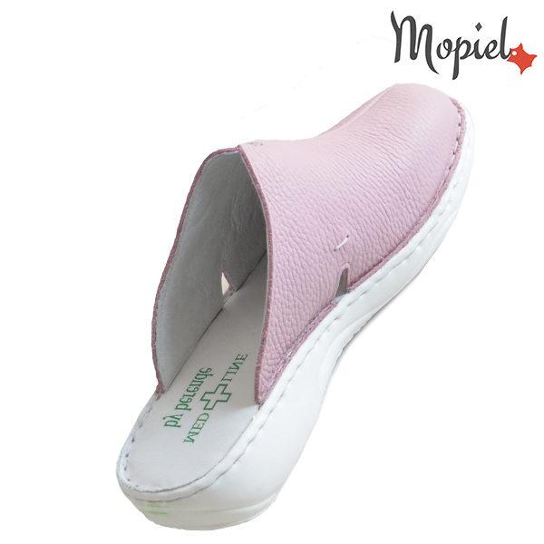 Papuci medicinali din piele naturala 261701 Roz Arabela incaltaminte piele