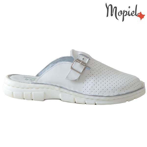 Papuci medicinali din piele naturala 261703 Alb-Perforat Denes