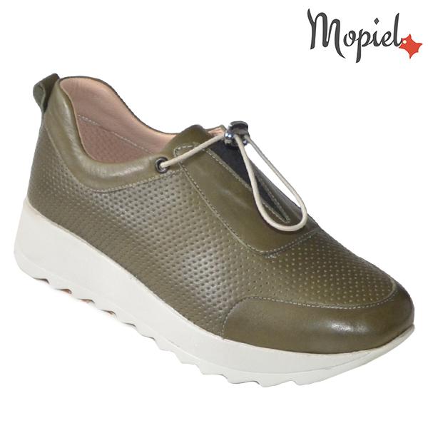 Pantofi dama, din piele naturala 202107 Kaki Diya incaltaminte dama