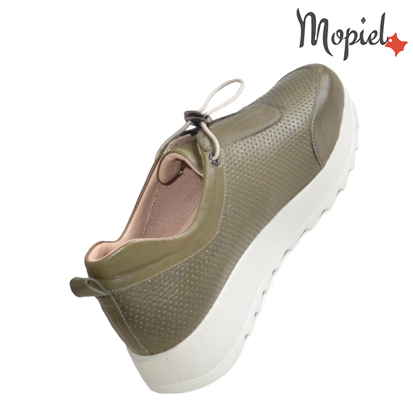 Pantofi dama, din piele naturala 202107 Kaki Diya incaltaminte online