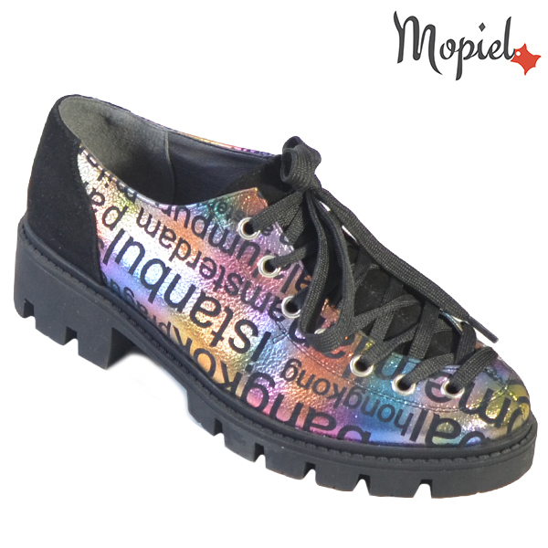 Pantofi dama, din piele naturala 202110 R23 Negru-Jurnal Nasira incaltaminte dama
