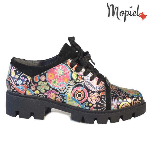 Pantofi dama, din piele naturala 202111 R23 Negru-Florar Nasira  - Pantofi dama din piele naturala 202111 R23 Negru Florar Nasira - COLECTIE NOUA PANTOFI DAMA