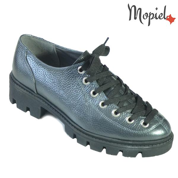 Pantofi dama, din piele naturala 202115 R23 Negru-Metalizat Electra incaltaminte dama