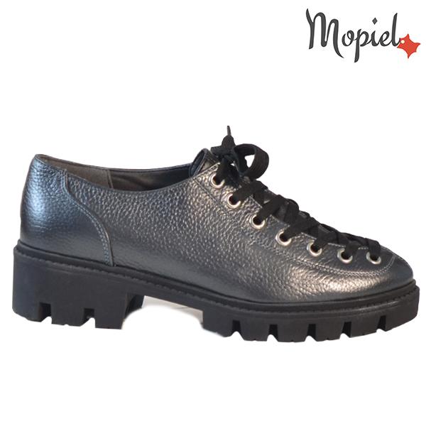 Pantofi dama, din piele naturala 202115 R23 Negru-Metalizat Electra  - Pantofi dama din piele naturala 202115 R23 Negru Metalizat Electra - COLECTIE NOUA PANTOFI DAMA