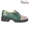 Pantofi dama, din piele naturala 202116 R23 Verde-Sarpe Electra