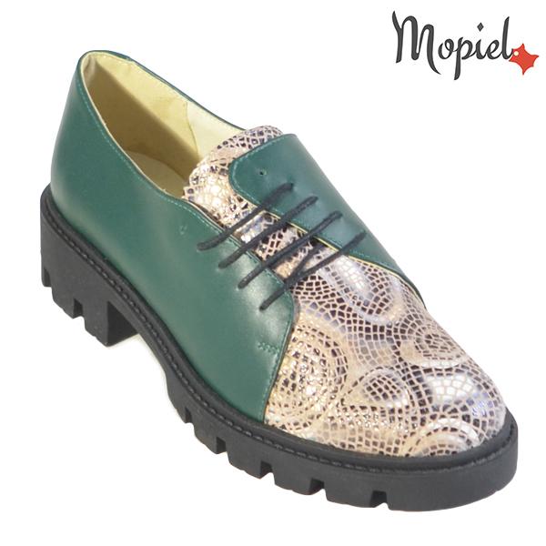Pantofi dama, din piele naturala 202116 R23 Verde-Sarpe Electra incaltaminte dama