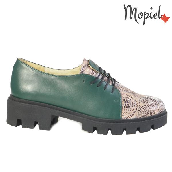 Pantofi dama, din piele naturala 202116 R23 Verde-Sarpe Electra  - Pantofi dama din piele naturala 202116 R23 Verde Sarpe Electra - COLECTIE NOUA PANTOFI DAMA