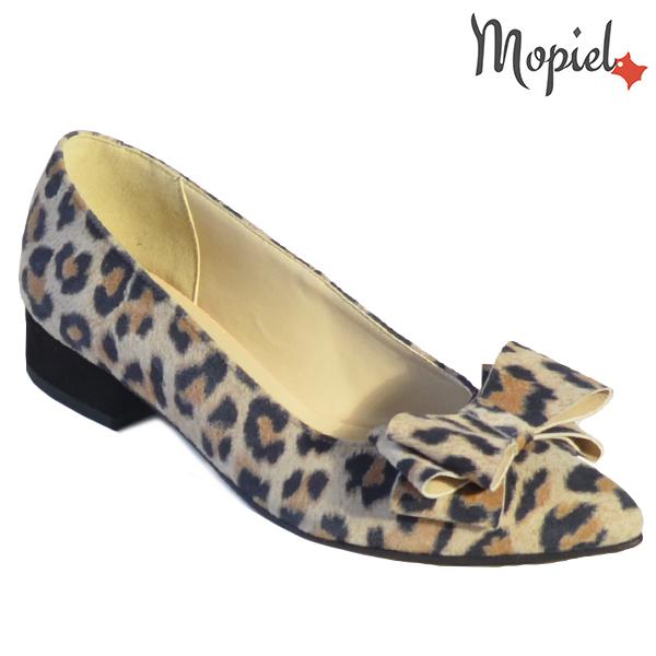 Pantofi dama, din piele naturala 202117 R23 Leopard Lolita incaltaminte dama