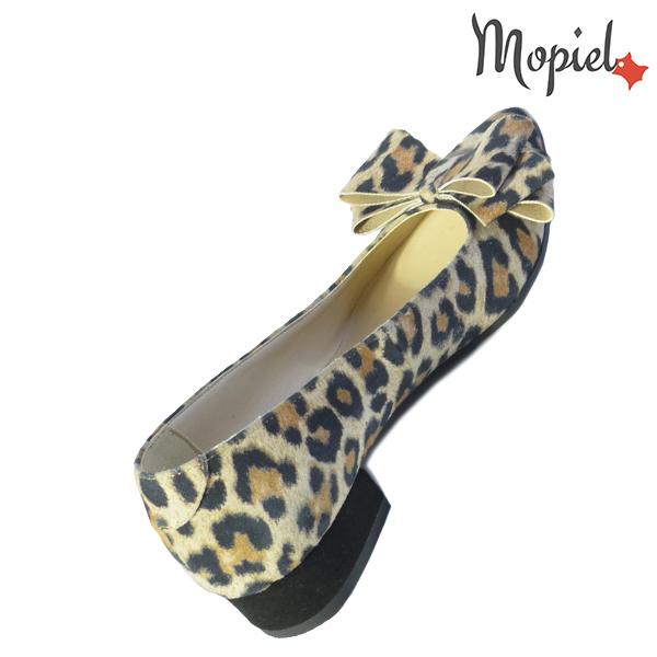 Pantofi dama, din piele naturala 202117 R23 Leopard Lolita incaltaminte piele