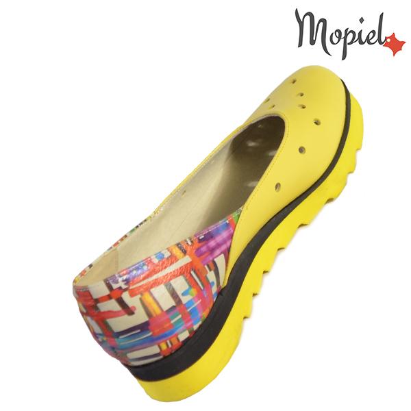 Pantofi dama, din piele naturala 202126 R23 Galben-Multicolor Divya incaltaminte online