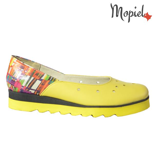 Pantofi dama, din piele naturala 202126 R23 Galben-Multicolor Divya  - Pantofi dama din piele naturala 202126 R23 Galben Multicolor Divya - COLECTIE NOUA PANTOFI DAMA
