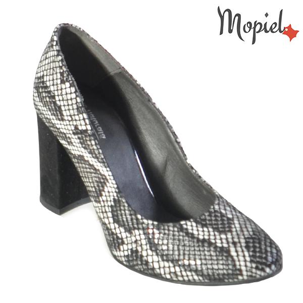 Pantofi dama din piele naturala 202127 R23 Croco Dia incaltaminte dama