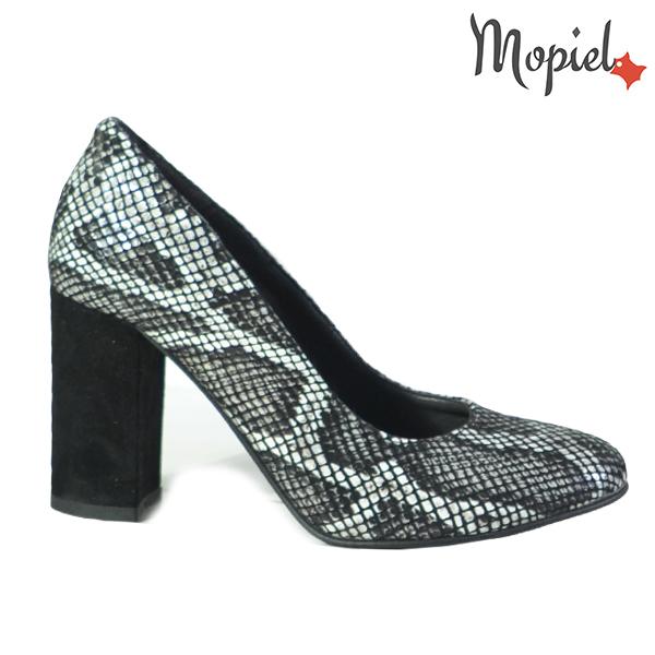 Pantofi dama din piele naturala 202127 R23 Croco Dia