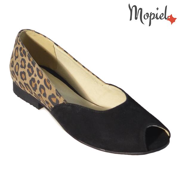 Pantofi dama, din piele naturala 202128 R23 Negru-Leopard Eda incaltaminte dama