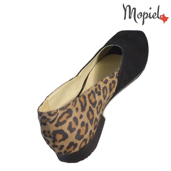 Pantofi dama, din piele naturala 202128 R23 Negru-Leopard Eda incaltaminte online