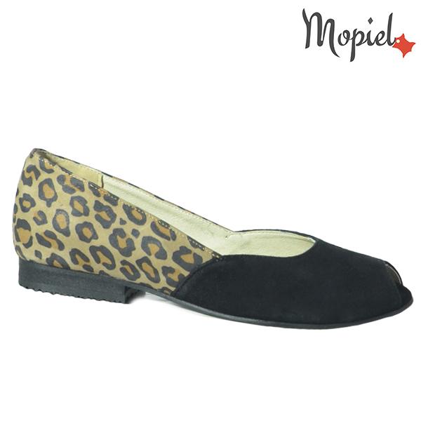 Pantofi dama, din piele naturala 202128 R23 Negru-Leopard Eda