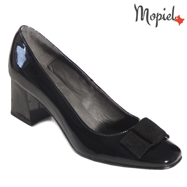 Pantofi dama din piele naturala 202130 R23 Negru-Lac Raven incaltaminte dama