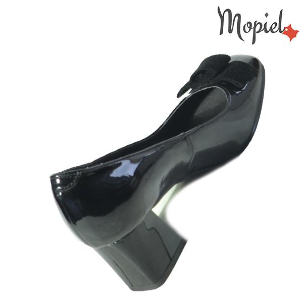 Pantofi dama din piele naturala 202130 R23 Negru-Lac Raven incaltaminte piele