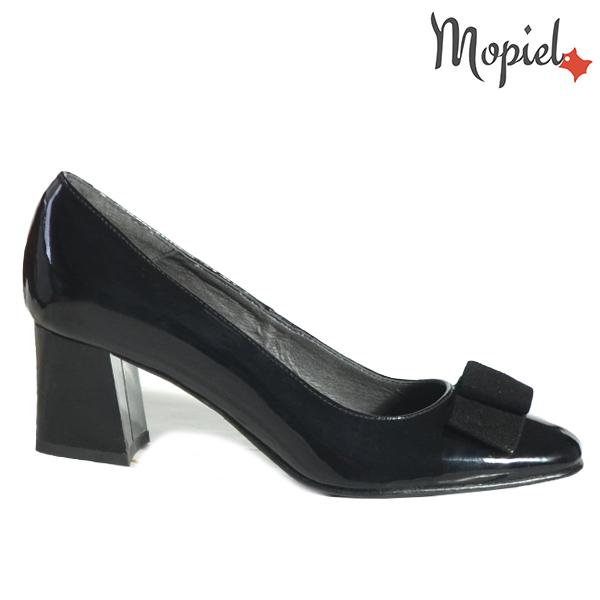 Pantofi dama din piele naturala 202130 R23 Negru-Lac Raven