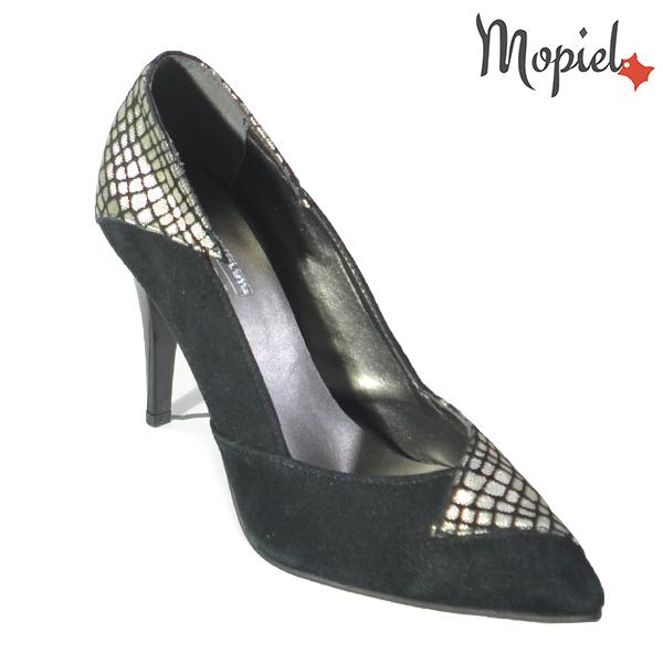 Pantofi dama din piele naturala 202141 R23 Negru Rini incaltaminte dama