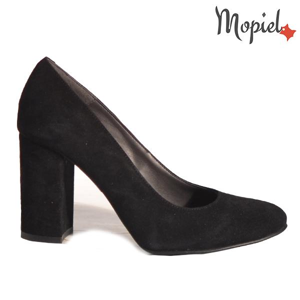 Pantofi dama din piele naturala 202141 R23 SP-Negru Dia