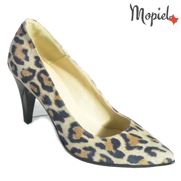 Pantofi dama din piele naturala 202142 R23 Leopard Simra incaltaminte dama