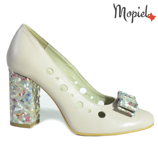 Pantofi dama din piele naturala 20216 R23 Bej Nicola