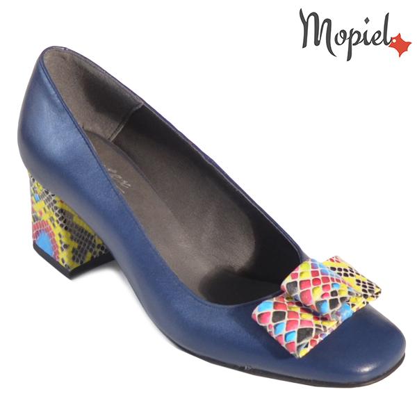Pantofi dama din piele naturala 20218 R23 Blue Celia incaltaminte dama