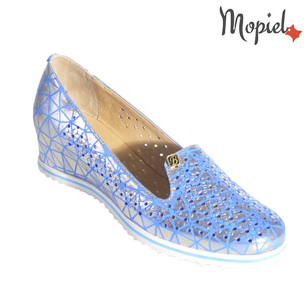 Pantofi dama din piele naturala 231110 Albastru - Argintiu Nadia incaltaminte dama