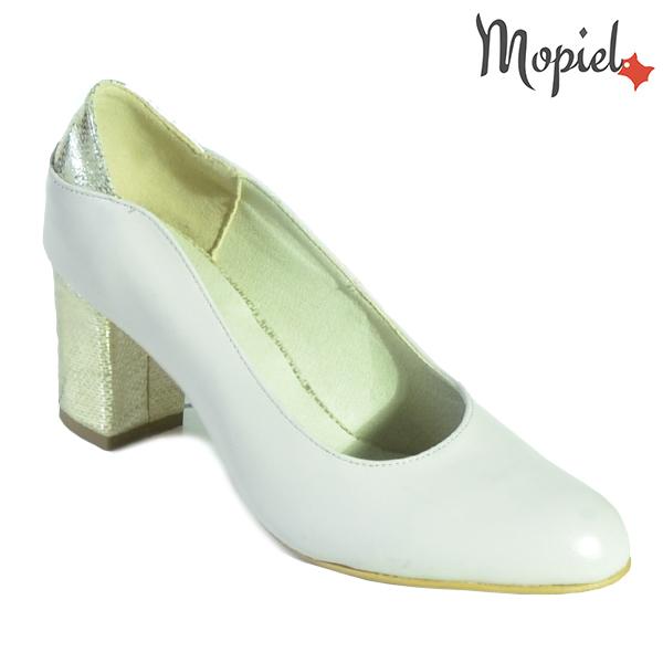 Pantofi dama din piele naturala 241501 165 Bej-Auriu Brigita incaltaminte dama