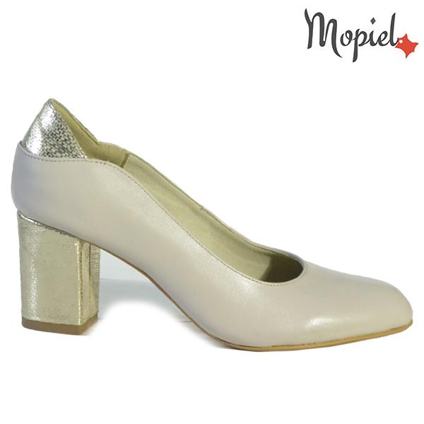 Pantofi dama din piele naturala 241501 165 Bej-Auriu Brigita