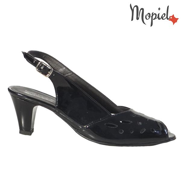 Sandale dama din piele naturala 202113 R23 Negru - Lac Felicia