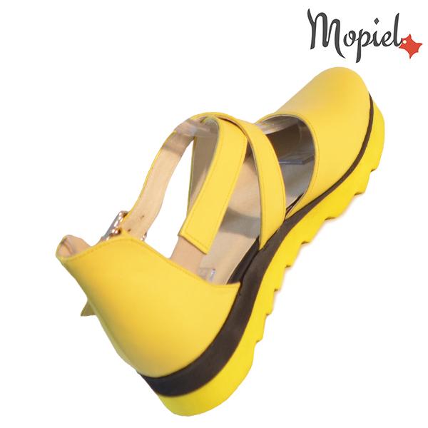 Sandale dama din piele naturala 202123 R23 Galben Neroli incaltaminte online