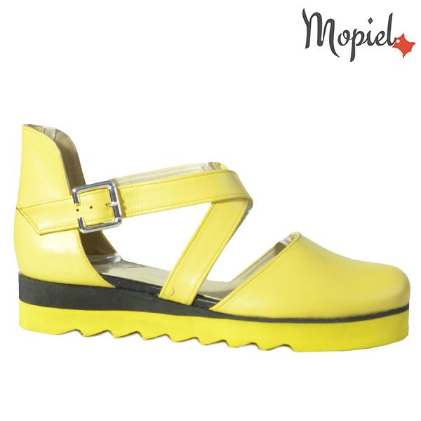 Sandale dama din piele naturala 202123 R23 Galben Neroli