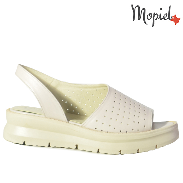 Sandale dama din piele naturala 202125 R23 Bej Novia