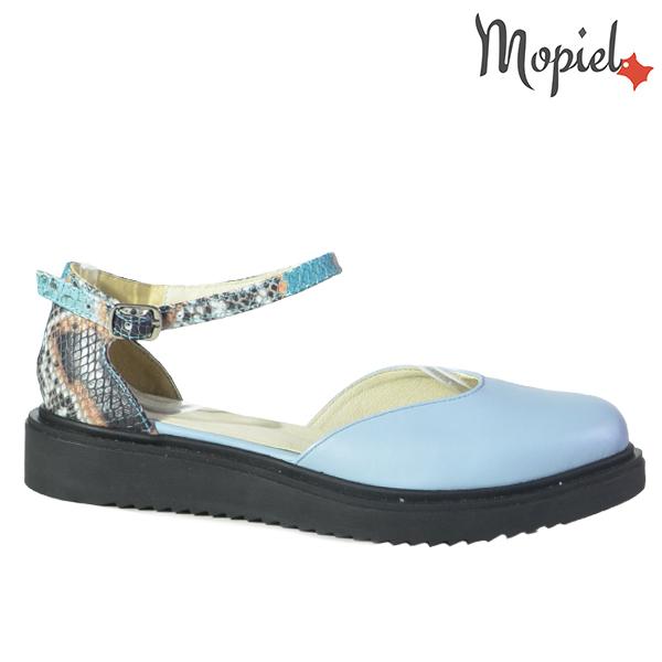 Sandale dama din piele naturala 202127 R23 Albastru Noella