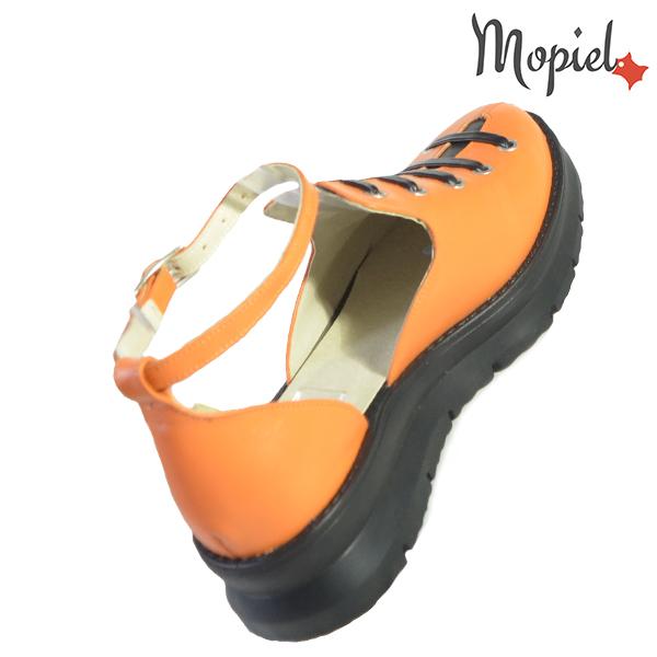 Sandale dama din piele naturala 20213 R23 Portocaliu Ramya reduceri incaltaminte