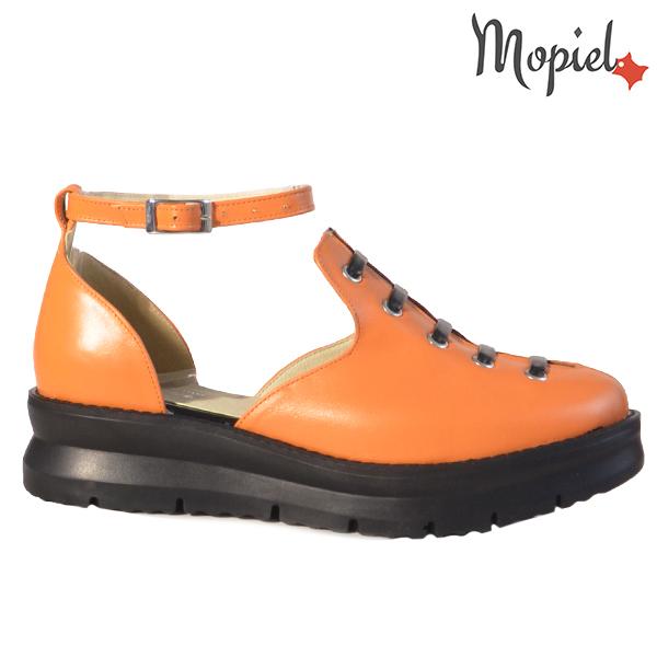 Sandale dama din piele naturala 20213 R23 Portocaliu Ramya