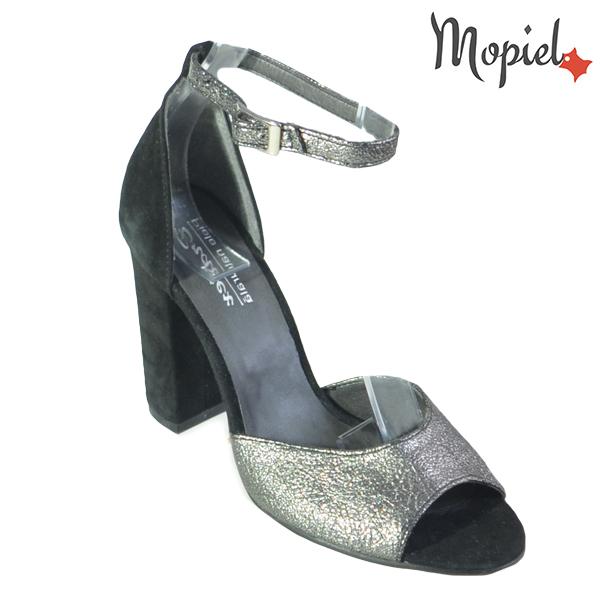 Sandale dama din piele naturala 202134 R23 Argintiu-Negru Rowa incaltaminte dama
